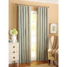 Better Homes and Gardens Atlanta Stripe Curtain Panel