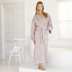 Classic Cotton Robe - Blush from The White Company