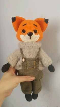 Handmade Crafts, Handmade Ideas, Diy Doll, Fun Crafts, Fisher, Crochet Patterns, Fox, Teddy Bear, Dolls