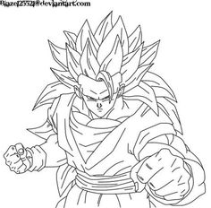 dragon ball coloring pages goku ssj3 coloring pages pinterest