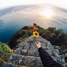Photo of the Day! A #sunflower #sunset with @sachacidale. #GoPro #GoProTravel