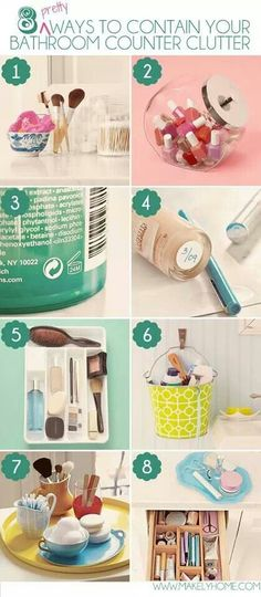 8 ways to clear clutter.