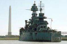 San Jacinto Battleground State Historic Site - LaPorte, Texas.   National Historic Landmark, Battleship TEXAS
