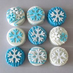 Frozen Theme Chocolate Covered Oreos by MilkandHoneyCakery on Etsy