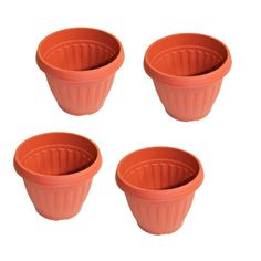 Special Offers - Set of 4 Terra Cotta Style Plastic Box Planters Light Weight Plastic Planting Pots for Home and Garden (7 X 8.5) - In stock & Free Shipping. You can save more money! Check It (April 08 2016 at 10:12PM) >> http://growlightusa.net/set-of-4-terra-cotta-style-plastic-box-planters-light-weight-plastic-planting-pots-for-home-and-garden-7-x-8-5/