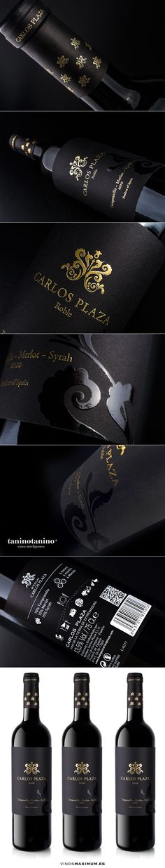 CARLOS PLAZA ROBLE 2010 - TANINOTANINO VINOS INTELIGENTES - VINOS MAXIMUM Photo by #winebrandingdesign