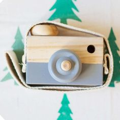 Baby Kids Cute Wood Camera Toys Children Fashion Clothing Accessory Safe And Natural Toys Birthday Christmas Gift Gray A676