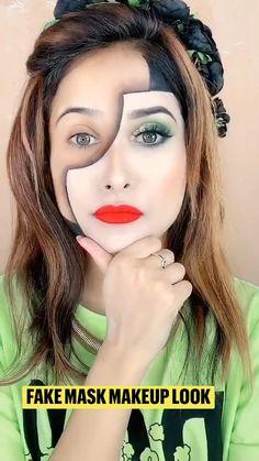 Mask Makeup, Makeup Art, Makeup Tips, Eye Makeup, Creative Makeup, Simple Makeup, Halloween Karneval, Celebrity Halloween Costumes, Aesthetic Photography Grunge