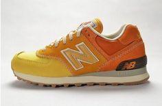 Joes New Balance 574 WL574RSU Yellow Orange Gradient Womens Shoes