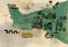littlechien:  littlechien via kattfrank kattfrank:  Finished map of Falmouth for a guide to Falmouth.