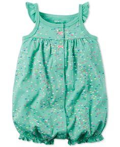 Carter's Baby Girls' Dot-Print Romper