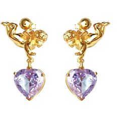 Metal Couture - Versailles Cherub Earrings Large ($670) ❤ liked on Polyvore featuring jewelry, earrings, african earrings, heart dangle earrings, rose earrings, heart shaped earrings and metal jewelry