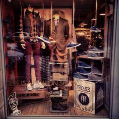 Fall/Autumn Menswear Window Display!