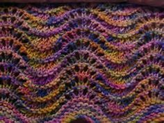 I love taking a skien of yarn and turning it into undulating waves of color. Handicraft, Blanket, Knitting, Rugs, My Love, Diy, Color, Image, Point