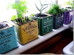 Cute tea tin idea