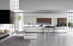 Interior design by Gaile Elliott Elliott Elliott Guevara Modern Kitchen Design, Interior Design Kitchen, Modern Interior Design, Home Design, Minimal Kitchen, Kitchen Contemporary, Kitchen Ikea, New Kitchen, Kitchen Dining