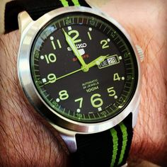 tonypringle:  #seikowatch #5Sport #nato #greenhighlights