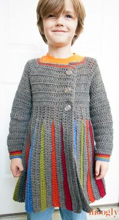 Free crochet Pattern: Eloise Girls Sweater - now for big girls!!