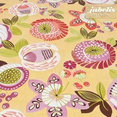 jubelis® Premium Wachstuch abwaschbar bextradick Nica curry mit großen Blüten