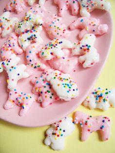 animal cookies with sprinkles