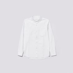 c9aede11754 The ASKET Oxford Shirt in White Mother Of Pearl Buttons, Button Downs, Button  Down