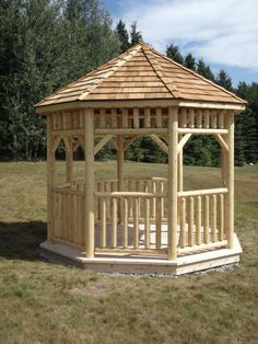 Aline Octagon Log Gazebo Kit - Our Handcrafted Cedar Log Gazebos are built in Canada for the harsh Canadian climate.