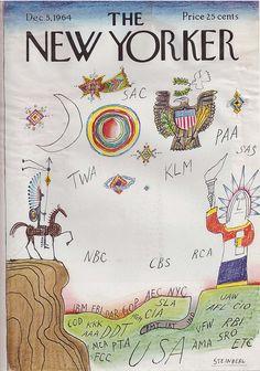 Saul Steinberg - Illustration for The New Yorker