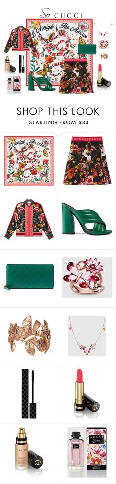 """Presenting the Gucci Garden Exclusive Collection: Contest Entry"" by stephanie-marie-sposato ❤ liked on Polyvore featuring Gucci and gucci"