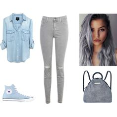 cool by karenvanessa1d on Polyvore featuring moda, J Brand, Converse and Marc by Marc Jacobs