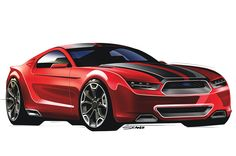 Popular Hot Rodding is the latest to take a crack at what they think the 2015 Mustang will look like, and have recently published a wide variety of renderings and sketches that show their vision of Ford's next generation pony car.
