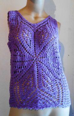Camiseta em croche fio de algodão. Tamanho M, cor lilás. Pode ser feita sob encomenda em outros tamanhos e cores.acrescentada meia manga ( manga japonesa) com acrescimo de 20,00 no preço.