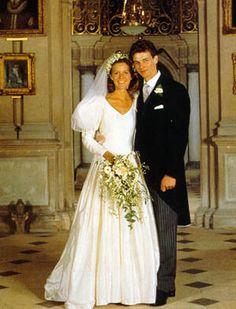 Wedding: 1988 James Ogilvy, son of Princess Alexandra, weds Julia Rawlinson