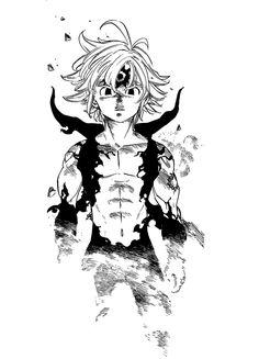 Meliodas Art Print by Keopx - X-Small Seven Deadly Sins Anime, Seven Deadly Sins Tattoo, 7 Deadly Sins, All Anime, Otaku Anime, Manga Anime, Anime Art, Meliodas And Elizabeth, Seven Deady Sins