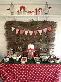 Woodland magical garden dessert table