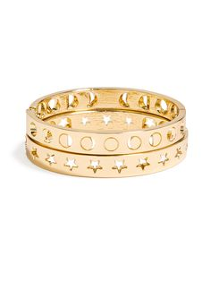 Moon phase bangle set from baublebar. >>>> Silver, perhaps . . . . .?