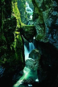 "Tolmin Gorge, Slovenia - I pretty much have this same picture, not nearly as pretty though. I believe its called ""Bear's Head"" being the shape of the rock stuck between kinda looks like a bear. Places To Travel, Places To See, Wonderful Places, Beautiful Places, Places Around The World, Around The Worlds, Slovenia Travel, Destination Voyage, Holiday Travel"