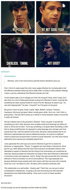"""""""This person has it spot on. The character development in this show is simply brilliant!!!"""""""