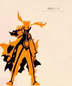 Nine Tails Sage Naruto Minimalist Poster