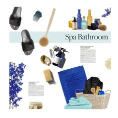 """""""Spa Day"""" by magdafunk ❤ liked on Polyvore featuring interior, interiors, interior design, home, home decor, interior decorating, McGinn, Roberto Cavalli, Creative Bath Products and Mila Moursi"""