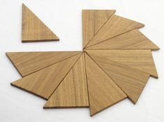 Hardwood Triangles Wooden Triangles  12 Piece Wooden Toy