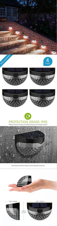 Outdoor Wall and Porch Lights 94939: Retaining Wall Lights Lighting Exterior Wireless Solar Led Lamp Outdoor 4Pc Set -> BUY IT NOW ONLY: $39.89 on eBay! Brick Paint Colors, Stucco Colors, Exterior Door Colors, Exterior Doors, Porch Lighting, Exterior Lighting, Solar Led, Solar Lights, Exterior Paint Sherwin Williams