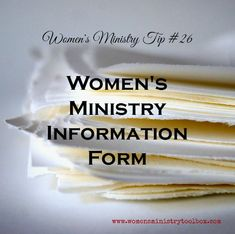 This Women�s Ministry Information Card (Free Printable)is a form you can use to collect information on your women as well as recruit volunteers.