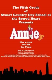 Grade 5 Presents: Annie Jr., Sat. May 5