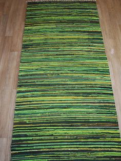 100% hand woven , Scandinavian style, rag rug - size 39.37 x 85.83 , 100cm x 218cm  This listing is for vintage-looking, old-fashioned hand woven rag rug. Made from used t-shirts and reclaimed clothing which has been hand cut into strips and hand woven. Each of my rugs is one of a kind item (OOAK). The rug will be handcrafted using fabric ribbons of mix of colors .Shipping takes approximately 1-2 weeks within Europe and 2-4 weeks worldwide.  These handmade rag rugs are wowen from recycled…