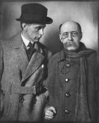 Peter Altenberg (1859-1919), Schriftsteller und Adolf Loos (1870-1933), Architekt, Wien