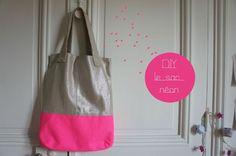 les lundis téléchargeables - DIY sac néon