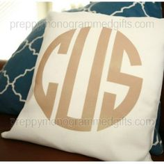 Monogrammed Throw Pillow 14 Inch