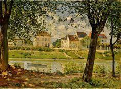 Alfred Sisley - Villeneuve-la-Garenne, 1872