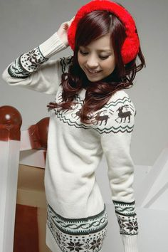 Sweater With Deer Pull Femme Christmas Women Pullover Sweaters And Pullovers Jumper Jersey Mujer Hiver Matching Kerst Trui Kazak(China (Mainland)) Cute Sweaters, Long Sweaters, Sweaters For Women, Winter Sweaters, Sweater Weather, Christmas Sweaters, Sweater Coats, Pullover Sweaters, Sweater Cardigan