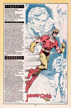 Johnny Quick DC Comics | Johnny Quick, un heroe del All Star Squadron que posee super-velocidad ...